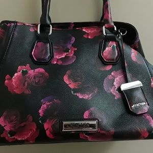Kenneth Cole Reaction Vegan Floral Print Satchel